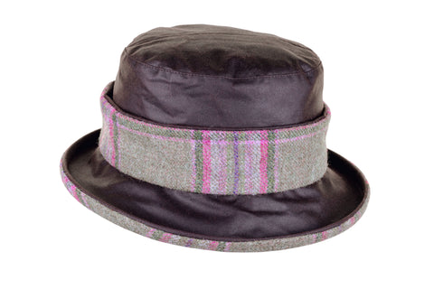 Natalie Wax Cotton and Tweed Hat