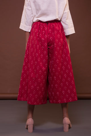 Short Culottes (Red Ikat)