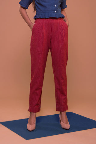 Sheila's Leggy Pant (Red/White)