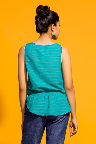Gathered Peplum