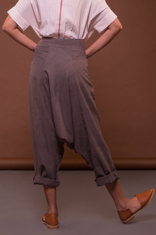 Sculpted Dhoti (Charcoal)