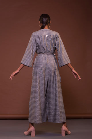 Loose Jumpsuit (Grey Ikat)