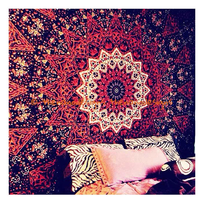 Brown Psychedelic Elephant Tapestry | Wall Hanging Mandala Dorm ...