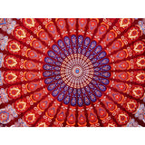 Medallion Feather Hippie Wall Hanging Dorm Tapestry Bohemian Decor Bedding