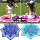 Pink Lotus Beach Throw Mandala Sheet