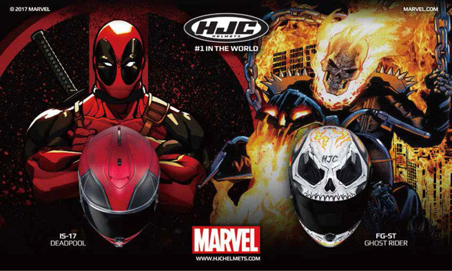 HJC Deadpool & Ghost Rider Helmets