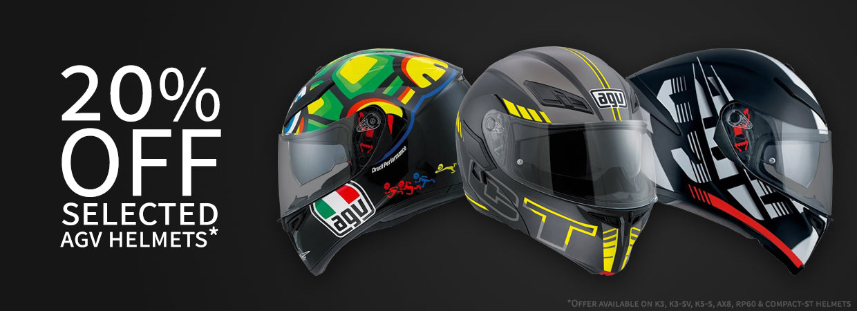 20% off Selected AGV Helmets NOW!