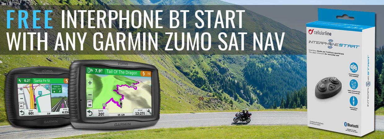 FREE Interphone BT Start with any Garmin Sat Nav