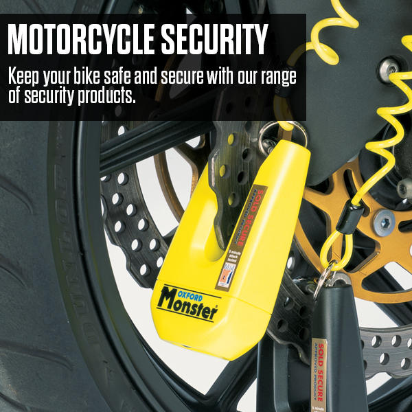 Keep your bike safe this year with the range of security products available here at MSG Bike Gear