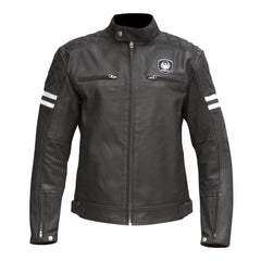 Merlin Hixon Heritage Leather Jacket - Black