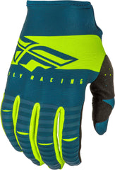 Fly Racing 2019 Youth Kinetic Shield Motocross Gloves - Navy / Hi-Viz