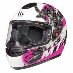 MT Thunder Breeze (Kids) Full Face Helmets - Pearl White/Pink