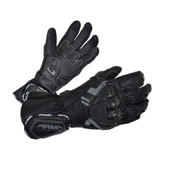 ARMR S870 Leather Kevlar Lined Gloves - Black