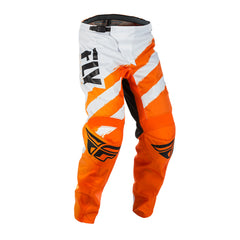 Fly Racing 2018 F-16 Youth Off Road Motocross MX Pants Bottoms - Orange/White