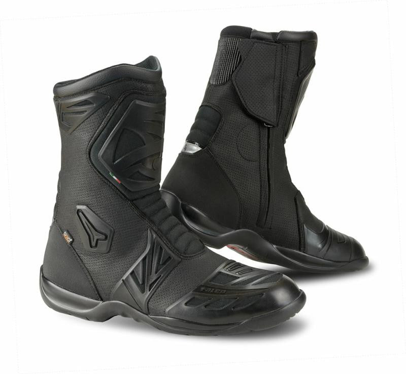 Falco Aryol Mens CE Approved Waterproof Motorbike Motorcycle Boots - Black - Falco -  - MSG BIKE GEAR - 1