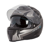 Spada SP16 Full Face Motorcycle Helmet ACU - Voltor Matt Black/Silver/Anth - Spada -  - MSG BIKE GEAR - 2
