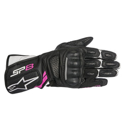 Alpinestars Stella SP-8 V2 Leather Gloves - Black / White / Pink