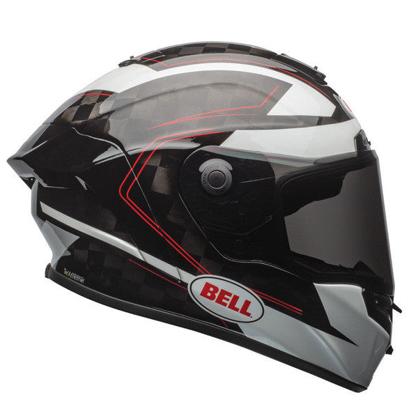 Bell 2017 Pro Star Full Face Carbon Motorcycle Helmet - Ratchet Black/White - Bell -  - MSG BIKE GEAR - 1