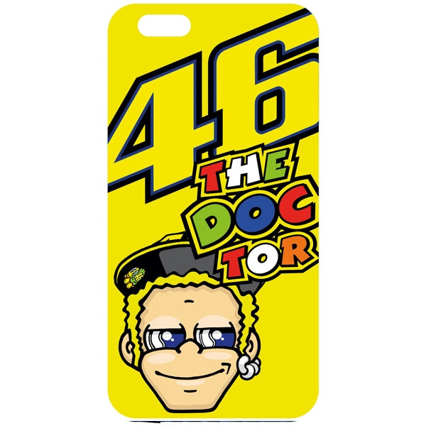 VR46 Valentino Rossi MotoGP Cartoon The Doctor iPhone 6/6S Phone Cover - Yellow - VR46 -  - MSG BIKE GEAR