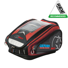 Oxford X30 QR Quick Release Motorbike Motorcycle Tank Bag - 30 Litres - RED - Oxford -  - MSG BIKE GEAR - 1