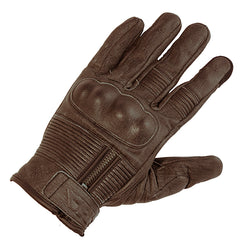 Richa Shadow Retro Leather Motorcycle Gloves - Brown