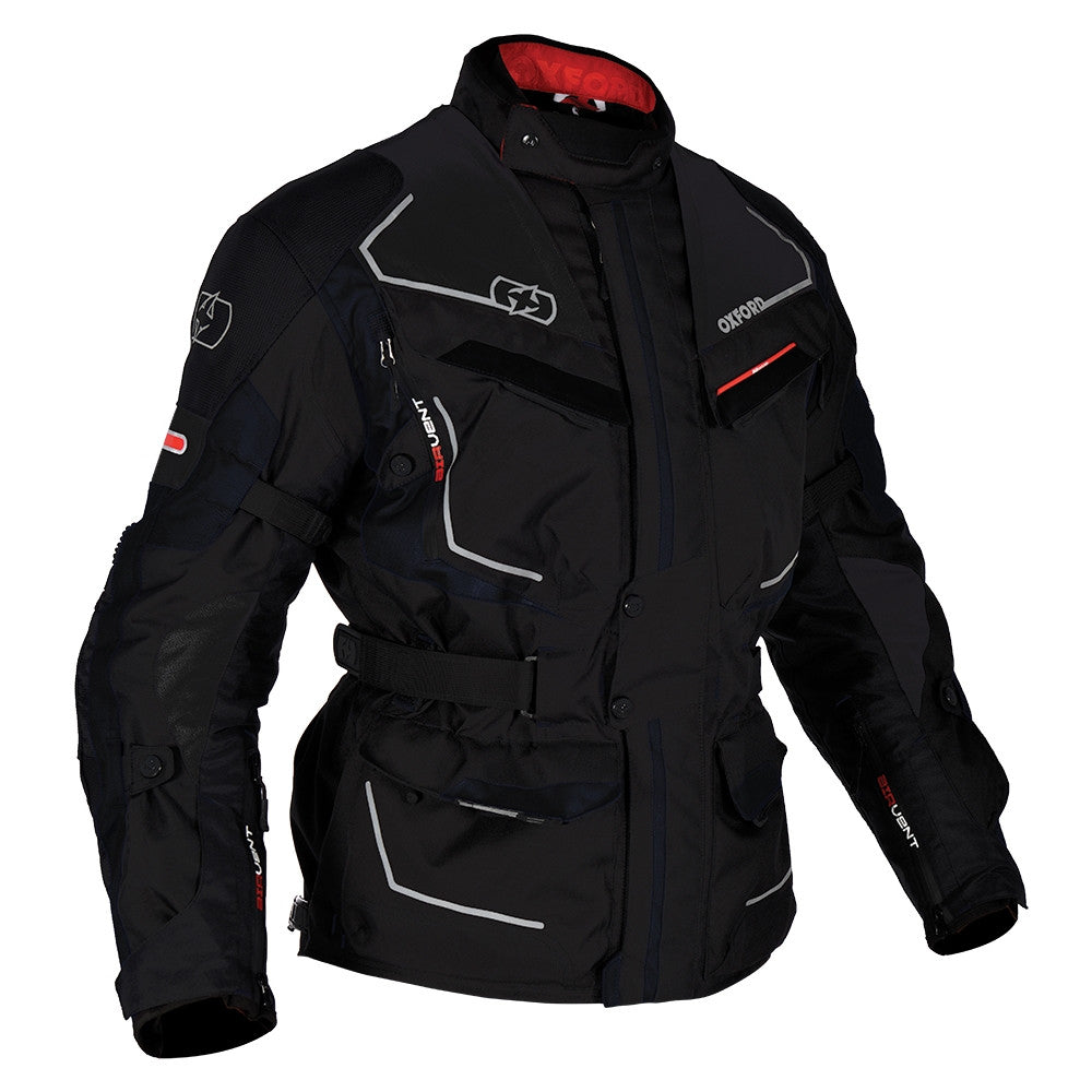 Oxford Oslo Long Waterproof Textile Motorbike Motorcycle Jacket Tech Black - Oxford -  - MSG BIKE GEAR