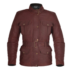 Oxford Bradwell Waxed Waterproof Ladies Jacket - Oxblood Red