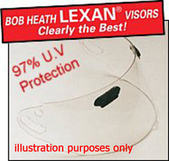 ARC514 CLEAR 2.00mm F.M.WINDFORCE VISOR - Bob Heath -  - MSG BIKE GEAR