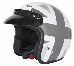 SPADA OPEN FACE NINETY2 BRIT WHITE/SILVER MOTORCYCLE SPORTS HELMET - Spada -  - MSG BIKE GEAR