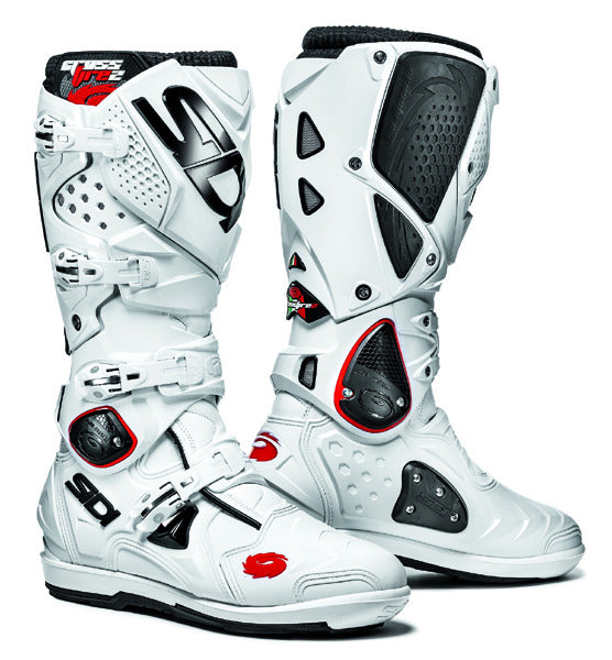 SIDI CROSSFIRE 2 SRS WHITE/WHITE MOTORCYCLE ENDURO MX BOOTS + FREE SOCKS - SIDI -  - MSG BIKE GEAR