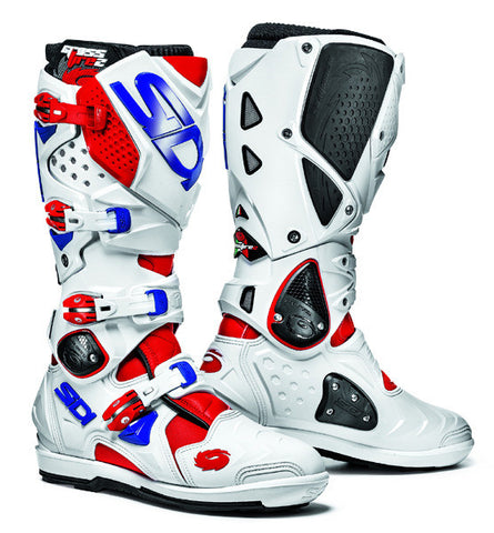SIDI CROSSFIRE 2 SRS RED/WHITE/BLUE MOTORCYCLE ENDURO BOOTS - SIDI -  - MSG BIKE GEAR