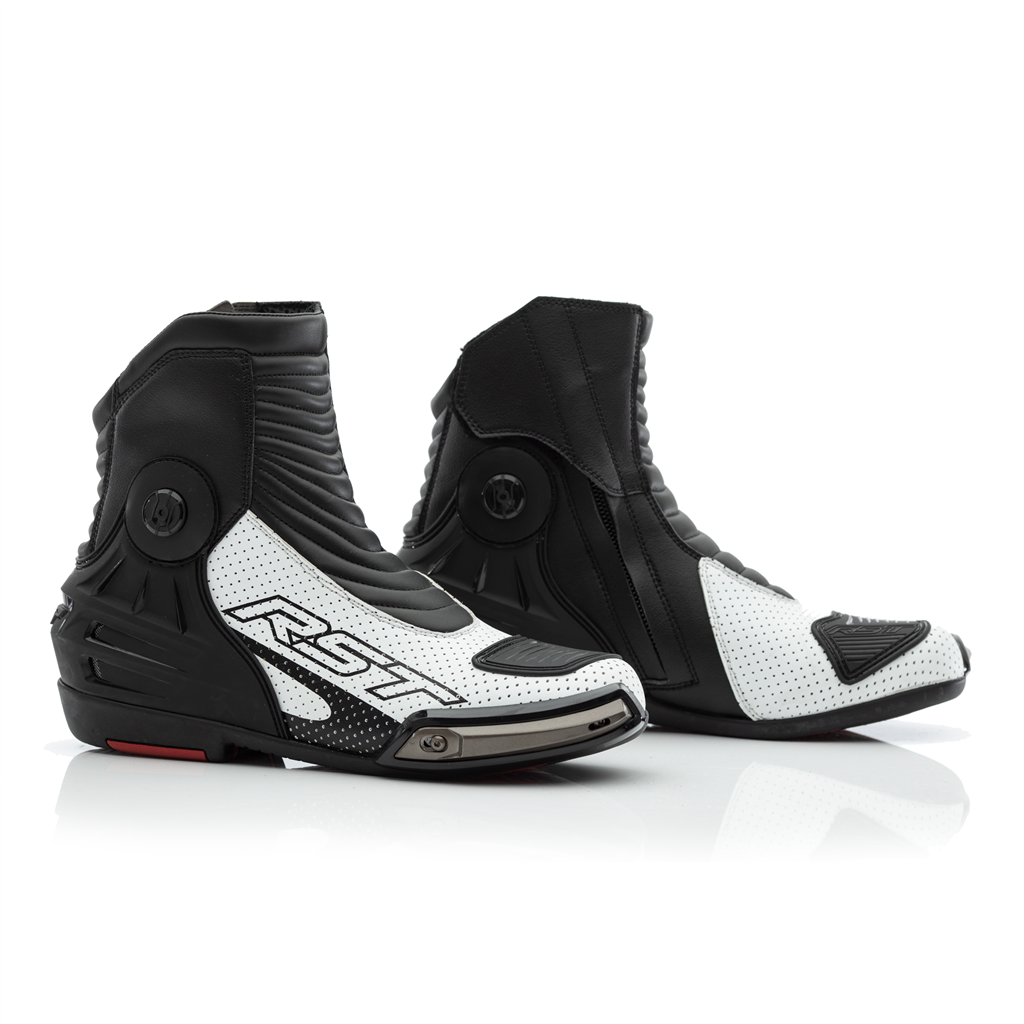 40 Black//White RST 2341 Tractech Evo III Short Leather Boots