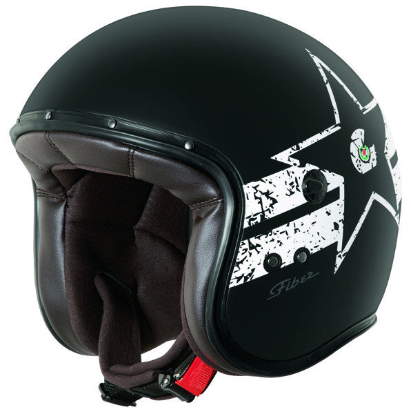CABERG FREERIDE SOUL MATT BLACK/WHITE OPEN FACE MOTORCYCLE HELMET - Caberg -  - MSG BIKE GEAR