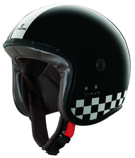 CABERG FREERIDE INDY BLACK/WHITE MOTORCYCLE OPEN FACE HELMET - Caberg -  - MSG BIKE GEAR