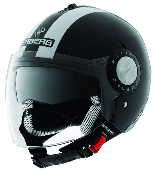 CABERG RIVIERA V2 LEGEND BLACK/WHITE OPEN FACE MOTORCYCLE HELMET - Caberg -  - MSG BIKE GEAR