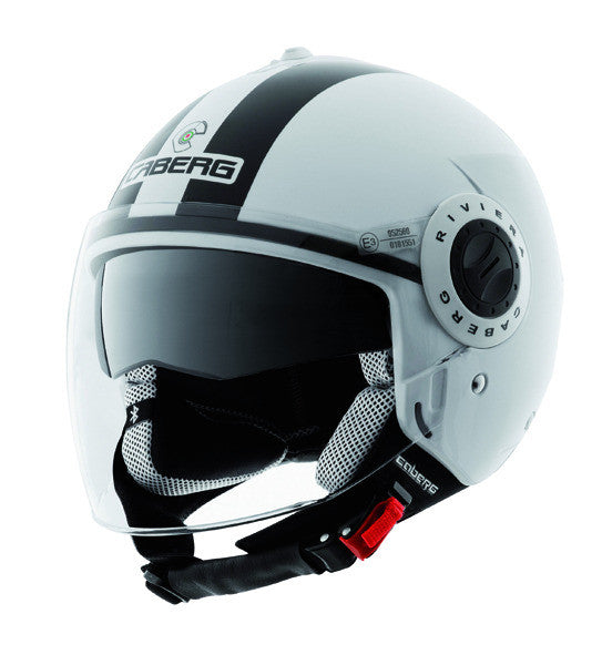 CABERG RIVIERA V2 LEGEND WHITE/BLACK OPEN FACE MOTORCYCLE HELMET - Caberg -  - MSG BIKE GEAR