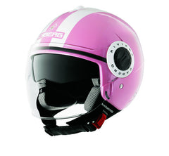 CABERG RIVIERA V2+ LEGEND PINK/WHITE OPEN FACE MOTORCYCLE HELMET - Caberg -  - MSG BIKE GEAR