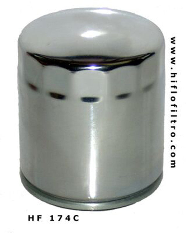 HIFLO HF174C CHROME OIL FILTER - Hiflo -  - MSG BIKE GEAR