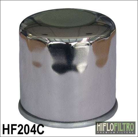 HIFLO HF204C CHROME OIL FILTER - Hiflo -  - MSG BIKE GEAR