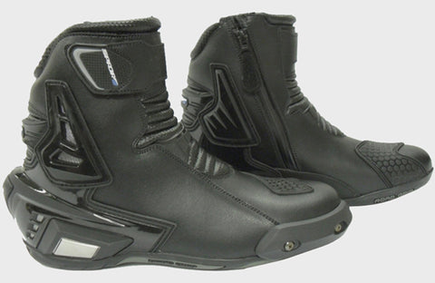 SPADA X-STREET WP 100% WATERPROOF MOTORCYCLE SHORT LEATHER BOOTS - BLACK - Spada -  - MSG BIKE GEAR