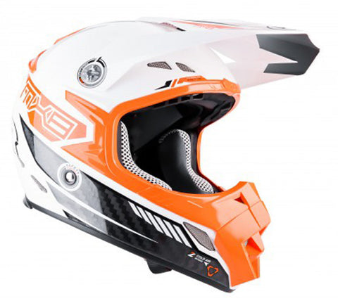 LAZER MX8-CARBON TECH WHITE/ORANGE OFF ROAD ENDURO MX MOTORCYCLE HELMET - Lazer -  - MSG BIKE GEAR