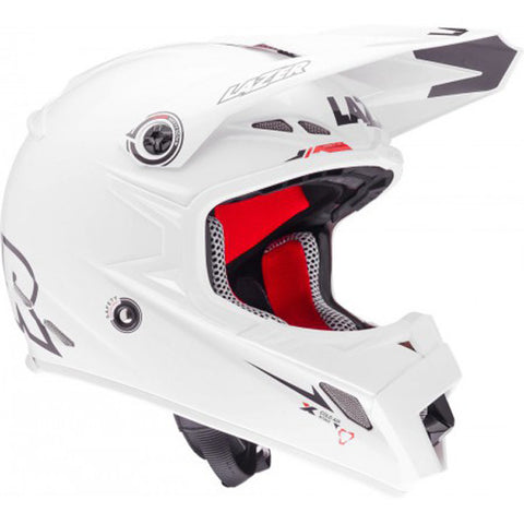 LAZER MX8-PURE GLASS X-LINE PLAIN WHITE OFF ROAD  MX MOTORCYCLE HELMET - Lazer -  - MSG BIKE GEAR