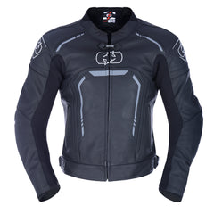 Oxford Strada Leather Sports Jacket - Stealth Black