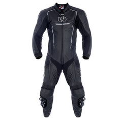 Oxford Stradale Leather Sports Suit - Stealth Black