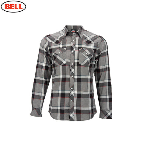 Bell Helmets Official Casual Mens Woven Long Sleeve Shirt Knox - Gray - Bell -  - MSG BIKE GEAR