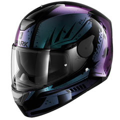 Shark D-Skwal Dharkov Helmet - Black / Violet / Blue - INCLUDES 3 VISORS
