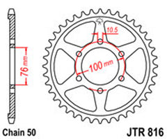 SPROCKET R/W 816-49 new