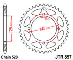 SPROCKET R/W 857-47 YAM new