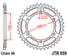 SPROCKET R/W 859-49 YAM (860) new