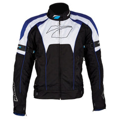 SPADA BURNOUT SPORTS TEXTILE WATERPROOF MOTORCYCLE JACKET BLACK/BLUE/WHITE NEW - Spada -  - MSG BIKE GEAR